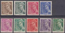 FRANCE - 1938/1941 - Lotto Di 9 Valori Nuovi MNH: Yvert 404/407, 410/413, E 414B. - Francia