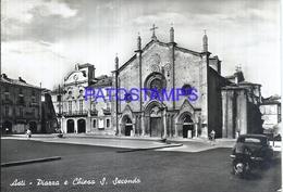 110823 ITALY ASTI PIAMONTE SQUARE & CHURCH S. SECONDE CIRCULATED TO AVELLINO POSTAL POSTCARD - Italie