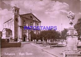 110824 ITALY PALMANOVA OLD CHURCH CIRCULATED TO ARGENTINA POSTAL POSTCARD - Italie