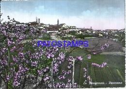 110825 ITALY MONFERRATO PIAMONTE VIEW PANORAMA CIRCULATED TO TORINO POSTAL POSTCARD - Italie