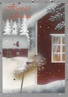 Birds - Bullfinches On Oatmeal In Winter Landscape - Jaana Aalto - Noël