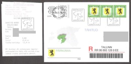 Estonia 2006 3 Stamps FDC Pärnu County Mi 545 REGISTERED - Briefmarken