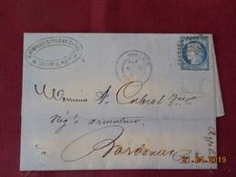 Lettre De 1875 à Destination De Bordeaux (variété) - 1849-1876: Période Classique