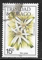 1984 15 Cents Flower, Star Grass, Used - Trinidad & Tobago (1962-...)