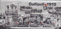 Australia 2015 Gallipoli Sheet Mint Never Hinged - Nuovi