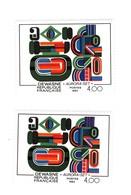 Dewasne YT 2263 : Rayures Blanches Au Lieu De Rouges + Couleurs Décalées . Voir Les Scans . Maury N°  2266a : 160 € - Varieties: 1980-89 Mint/hinged