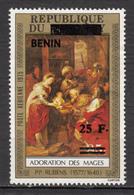 ##29, Bénin, Rubens, Art, Peinture, Painting, Rois Mages, Kings, Magi, Surimpression, Overprint, Noël, Christmas, - Bénin – Dahomey (1960-...)
