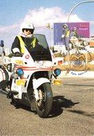 """"""" GARDE NATIONAL REPUBLICAIN A MOTO """" Sur Carte Maximum N°tée Du PORTUGAL De 2001 - Police - Gendarmerie"""