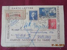 Carte Lettre De 1943 à Destination De Wien En Recommandé - Storia Postale