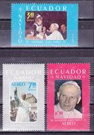 ECUADOR 1980 CHRISTMAS & VISIT OF JOHN PAUL II MNH SC# 1007 C715-C716 - Ecuador