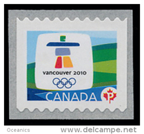 Canada (Scott No.2306 - Olympiques D'hiver / Vancouver 2010 / Winter Olympics ) (**) Roulette / Coil / (5000) - Hiver 2010: Vancouver