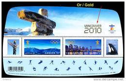 Canada (Scott No.2366f - 2010 Winter Olympics / GOLD) (**) - SPECIAL EDITION - NOTE - Hiver 2010: Vancouver
