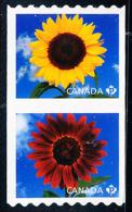 Canada (Scott No.2442a - Tourne-sol / Sunflower) [**] (P) Roulette / Coil - 1952-.... Règne D'Elizabeth II