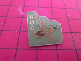 918B Pins Pin's  / Rare Et De Belle Qualité / THEME ANIMAUX : ROC CANARD OISEAU NON A LA CHASSE - Animaux