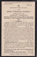 Veurne, Sint-Pieters-ter Panne, 1911, Anna Rossey, Vanhove - Devotieprenten