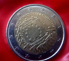 2015 Austria - Osterreich - 2 - Euro --30 - Years - Of - EU Flag  Circulated Coin - Oostenrijk