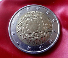 2015 Slovensko Slovakia - 2 - Euro --30 - Years - Of - EU Flag  Circulated Coin - Slowakije