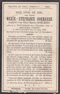 Wortegem, Bellegem, 1914, Marie Goemaere, Speleers - Devotieprenten