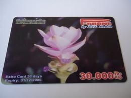 LAOS USED CARDS  PLANTS FLOWERS - Laos