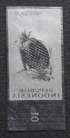 KPI-327-Indonesia 1961, Charity, Fruits. 0.20r. V1, Piece Of Printing Plate! Rare!!! - Indonesia