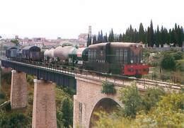 Cazouls Les Beziers - Un Train De Marchandises Du Chemin De Fer De L' Herault  U 1389 - Trains