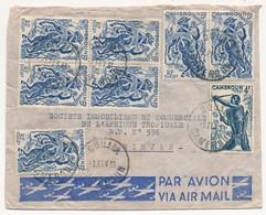 Cameroun => Enveloppe Affranchissement Composé - 11 Timbres Des Deux Cotés De L'enveloppe... Douala 1951 - Cameroun (1915-1959)