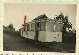 TRAM : SART RISBART 15/7/1956 :   1374 Remorque D'autorail A 2 Essieux     : 9 X 6 Cm ( See Scan For Detail ) - Trains