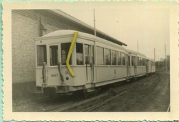 TRAM : KNOKKE Stelplaats 25/05/1958    : 9 X 6 Cm ( See Detail ) - Trains
