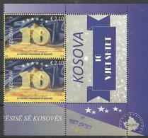 KOS 2018-03 10 YEARS INDEPENDENCE OF KOSOVO REPUBLIK, KOSOVO, 2 X 1v + Label, MNH - Kosovo