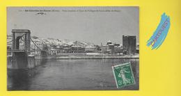 CPA SAINTE COLOMBE Les VIENNE 69 ֎ Pont Suspendu Et Effet De Neige  ֎ 1908 - Vienne