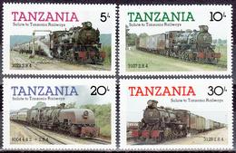 TANZANIA       SCOTT NO. 271-74     MNH        YEAR  1985 - Tanzania (1964-...)