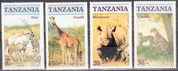 TANZANIA       SCOTT NO. 319-22     MNH        YEAR  1986 - Tanzania (1964-...)
