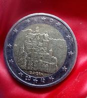 GERMANY - 2 €  -  G  -  Euro Coin 2012 Bayern Neuschwanstein Castle Deutschland CIRCULEET  COIN - Allemagne