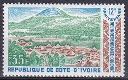 Elfenbeinküste Ivory Coast Cote D'Ivoire 1972 Geschichte Unabhängigkeit Independence Landschaften Landscapes, Mi. 413 ** - Costa D'Avorio (1960-...)