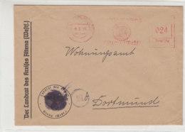 Entnazifizierter Brief Mit Freistempel Aus ALTENA 6.5.46 Nach Dortmund - Zone AAS