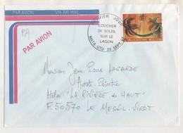 WALLIS ET FUTUNA, COUCHER DU SOLEIL SUR LE LAGON - 1ER JOUR MATA UTU 1997, A DESTINATION D UN ARTISTE  PEINTRE - A VOIR - Covers & Documents