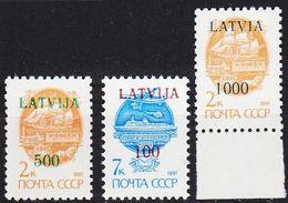 LETTLAND LATVIJA [1991] MiNr 0313,15,16 ( **/mnh ) - Lettland