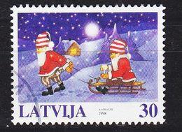 LETTLAND LATVIJA [1998] MiNr 0494 ( O/used ) Weihnachten - Lettland
