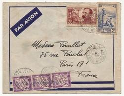 Lettre Depuis Cote D'Ivoire, Taxée à Paris - 3x2F - 1938 - Taxes