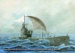 Shch-421, Soviet Navy Shchuka-class Submarine, Using A Sale Due To A Mine Explosion - Sous-marins