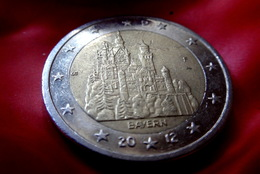GERMANY - 2 €  -  F  -  Euro Coin 2012 Bayern Neuschwanstein Castle Deutschland CIRCULEET  COIN - Allemagne