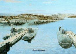 Russian Navy Nuclear Submarines In Yagelnaya Bay. - Sous-marins