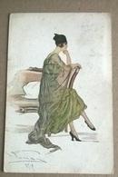 CARTOLINA DISEGNATA FIRMATA DA FERRARA VIAGGIATA 1918   (165) - Illustratori & Fotografie