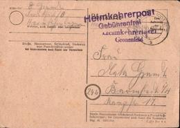 ! 1948 Heimkehrerpost, Heimkehrerlager Gronenfelde Bei Frankfurt Oder. Gel. N. Barmstedt - Zone Soviétique
