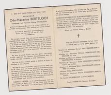 DOODSPRENTJE BERTELOOT ODO-MACARIUS WEDUWNAAR NICKELSON BEVEREN-ROESELARE (1884 - 1957) - Images Religieuses