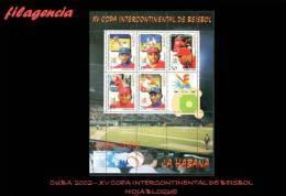 CUBA MINT. 2002-20 XV COPA INTERCONTINENTAL DE BÉISBOL. HOJA BLOQUE - Cuba