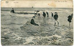 CPA - Carte Postale - Belgique - Knocke - Les Jeux à La Mer- 1911 (M8203) - Knokke