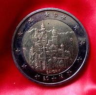 GERMANY - 2 €  -  D  -  Euro Coin 2012 Bayern Neuschwanstein Castle Deutschland CIRCULEET  COIN - Allemagne