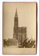 Photo Sur Carton Format : 106*165 Mm STRASBOURG 67 Cathédrale Dos Blanc   VOIR DESCRIPTIF  §§§ - Photographie