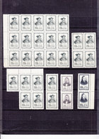 CHINA LOT 63 PIECES  FAMOUS MEN SG 1605/1608 WITHOUT GUM AS ISSUED - Neufs
